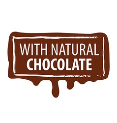 Logo printing for natural chocolate vector