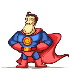 Superhero with hands on waist vector