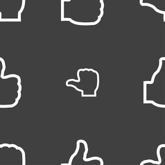 Like icon sign seamless pattern on a gray vector