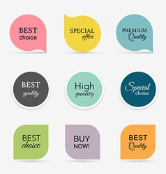 Collection of promo sealsstickers isolated vector
