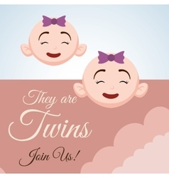 Baby shower design invitation design isolated vector