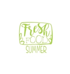 Fresh food calligraphic cafe board vector