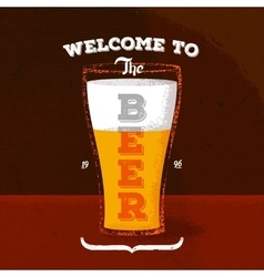 Vintage poster with beer and lettering vector
