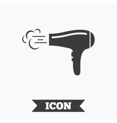 Hairdryer sign icon hair drying symbol vector