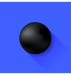 Black Ball vector image vector image