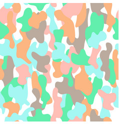 Camouflage seamless pattern in a brown blue pink vector