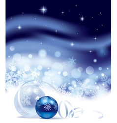 Christmas and New-Years background vector image vector image