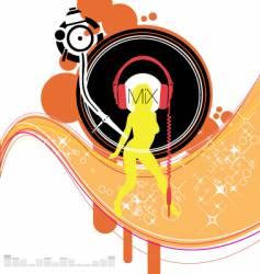 dj vector image vector image