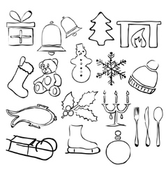 Doodle christmas images vector