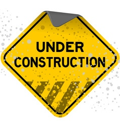 dusty under construction vector image vector image