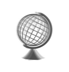 Earth globe sign gray icon shaked at vector