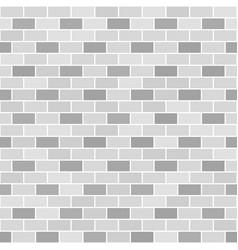 Gray brick wall pattern seamless brick background vector