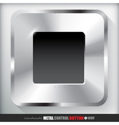 Metal stop button applicated for html and flash vector