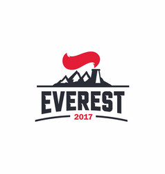 Modern professional sign logo everest art vector