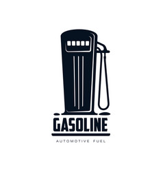 oil fueling station simple flat icon vector image