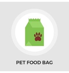 Pet food bag flat icon vector