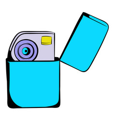 Petrol lighter icon cartoon vector