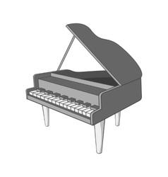Piano icon black monochrome style vector image vector image