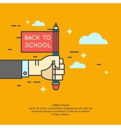 Poster Back to school vector image