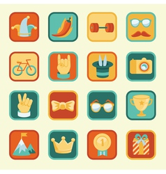set with achievement and awards badges for social vector image