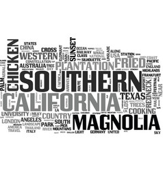 Southern word cloud concept vector
