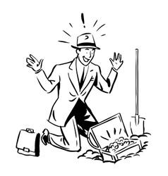 Treasure hunter business finance concept vector image