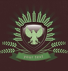 Vintage logo of the eagle vector