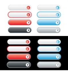 Web plastic button set vector