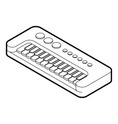 Toy synthesizer icon outline style vector
