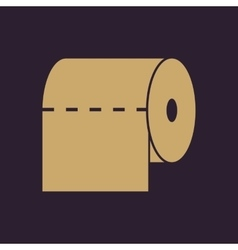 The toilet paper icon towel and closet restroom vector