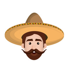 Mexican man avatar character vector