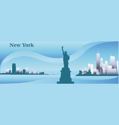 Silhouette of new york vector