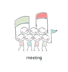 meeting vector image