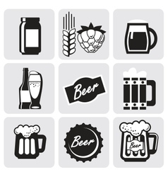 beer icons vector image