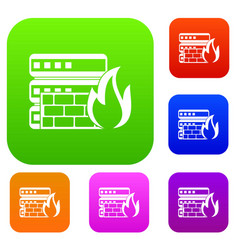 Database and firewall set collection vector