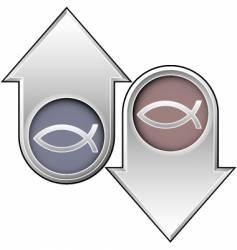 fish arrows vector image