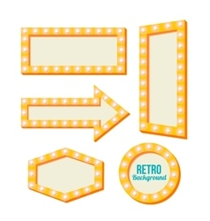 Retro yellow frame vintage signs vector