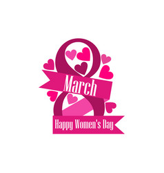 8 march day international womens day label with vector image vector image