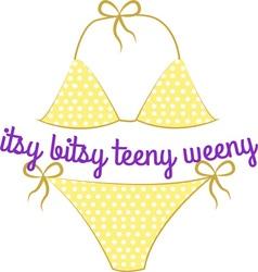 Itsy Bitsy Teeny Weeny vector image