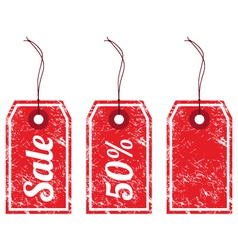 Sale vintage price tags vector image