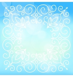 Sky background with floral ornaments vector