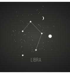 Astrology sign Libra on chalkboard background vector image vector image