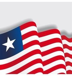 Australian waving flag vector