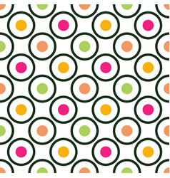 Circles and dots seamless pattern vector