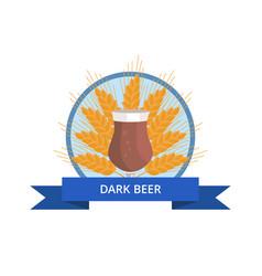 Dark beer tulip on white vector