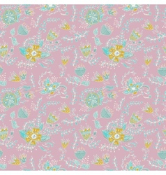 Elegance Seamless pattern with flowers and leaves vector image vector image