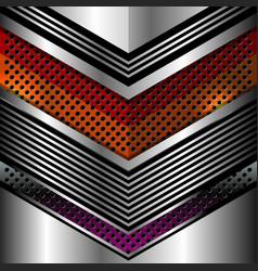 Geometric elegant metallic background vector