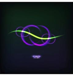 glowing symbol vector image vector image