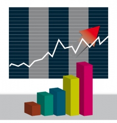 Growth chart vector