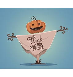 halloween of decorative scarecrow with head vector image vector image